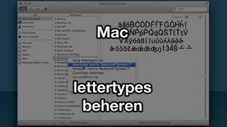 Lettertypes beheren (VideoBytes - Mac)