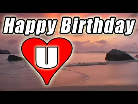 Happy Birthday E Card Video Song Romantic Bolero Beach Sunset To You