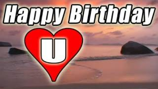 HAPPY BIRTHDAY E-card Video Song Romantic BOLERO Beach sunset to You / LOVE U E-cards free