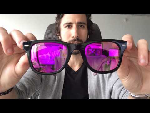 Ray-Ban Wayfarer RB 2140 11744T Purple Violet Mirror Sunglasses Review