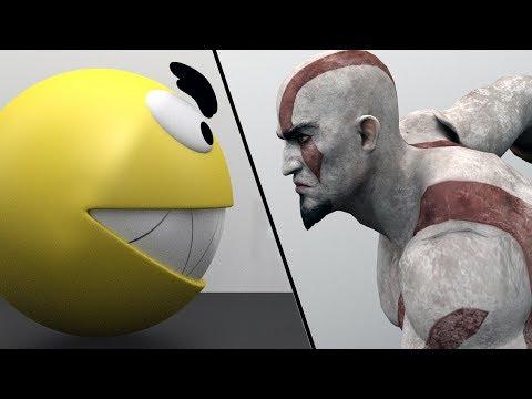 Pacman vs Kratos