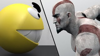 Pacman vs Kratos - God of War