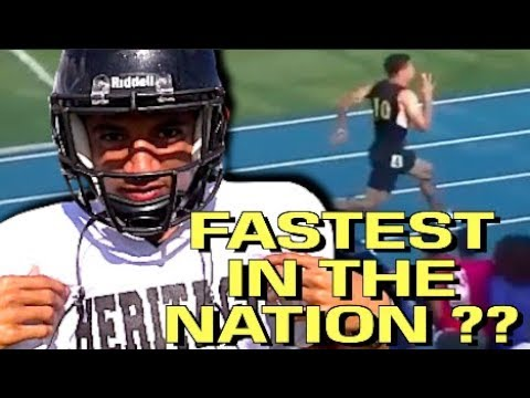 Fastest High School Football Player In The Nation ?? Anthony Schwartz : 10.15 100m - 4.27 40