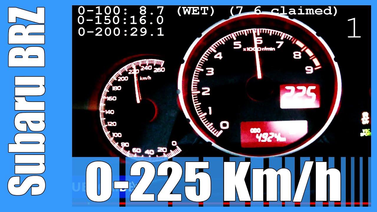 Subaru Brz Top Speed >> Subaru Brz Gt86 Scion Fr S 0 225 Km H Great Acceleration Top Speed Run