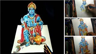 Amazing 3D Drawing  of Lord Hanuman ( Time Lapse ) - 3D Art 4 You | How to draw 3d drawing on paper