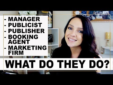 THE DIFFERENCE BETWEEN A MANAGER, PUBLICIST, MARKETING FIRM, BOOKING AGENT & PUBLISHER