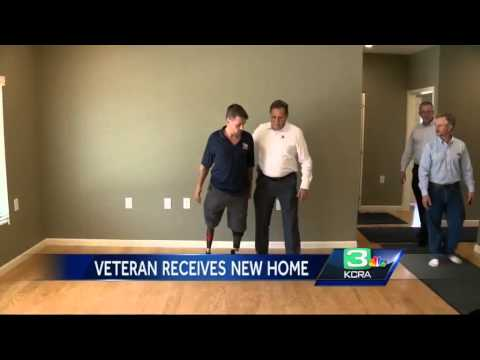 Marine vet receives heroes welcome, new home in Loomis