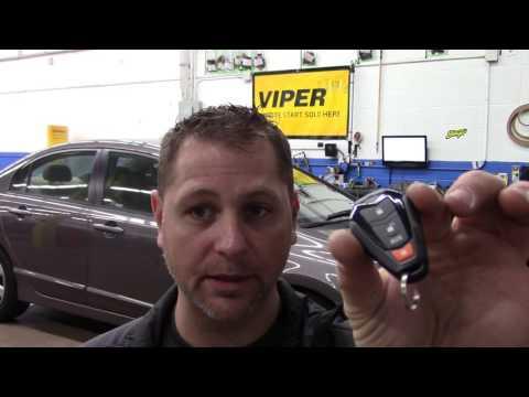 Viper 4105V 1-Way Remote Start System installed on 2011 Honda Civic