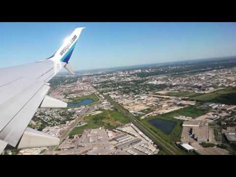 Westjet Boeing 737 takeoff at Winnipeg James Armstrong Richardson International Airport
