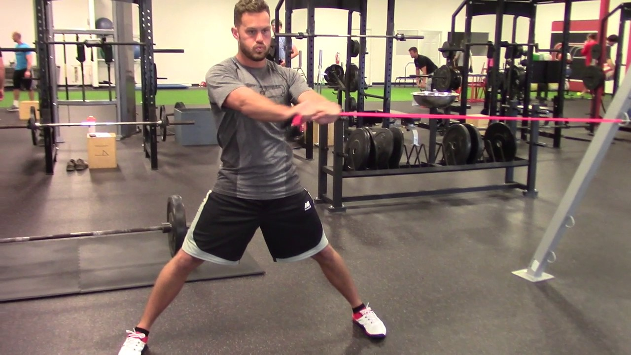 a7dc7be0b633 EricCressey.com  Wide-Stance J-Band Anti-Rotation Chop - YouTube