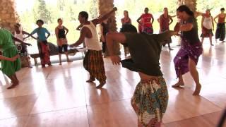 Aziz Faye leads steps in dance class at Camp Fareta 2013