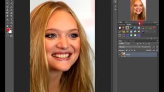 уроки фотошопа отбеливание зубов  за одну минуту