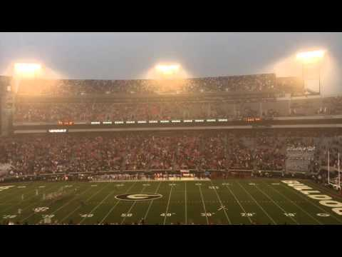 Timelapse of Sanford Stadium mass departure as Alabama wins 38-10