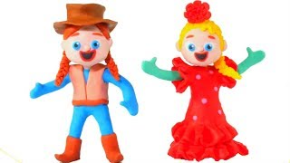 FROZEN ELSA & ANNA CHANGE DRESSES ❤ Spiderman, Hulk & Frozen Elsa Play Doh Cartoons For Kids