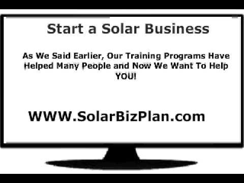 Solar Business Opportunity - Solar Business Plan