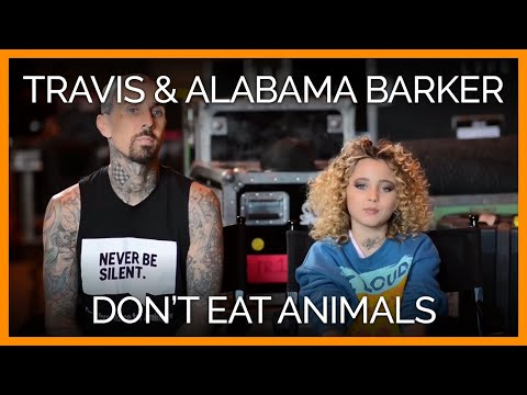 Travis Barker from Blink 182 and his daughter about their eating habits while on the road