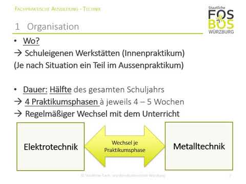 Die FpA der Ausbildungsrichtung Technik