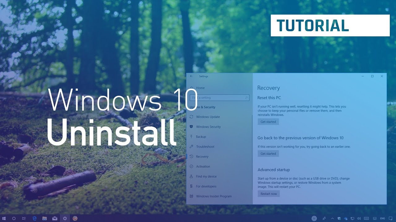 Windows 10 April 2018 Update, version 1803: Uninstall, rollback, process