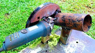 How to Make a Mini Chaff Cutter from an Angle grinder at Home |DIY