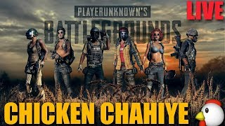 PUBG LIVE INDIA - I WANT AWM WITH SUP.... 3 CHICKEN DINNER CHALLENGE :)