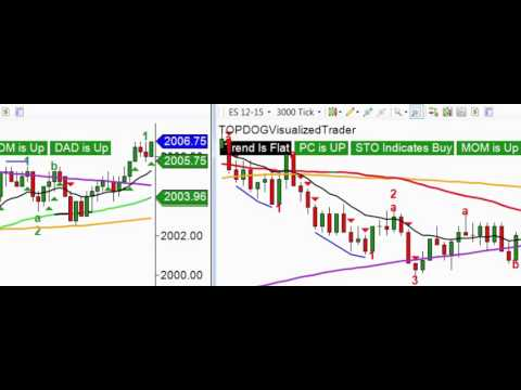 Live Trading of the Top Dog Trading Visualized Trader