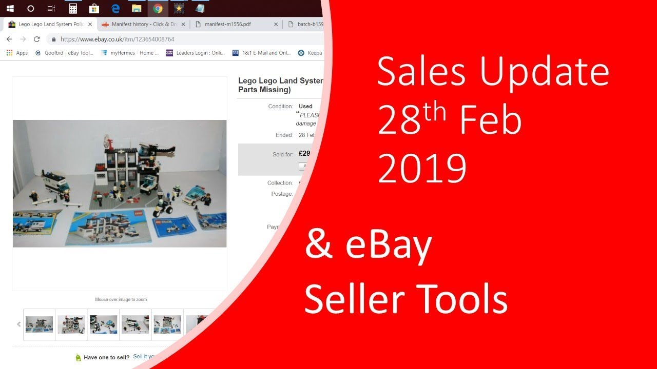 Feb 28th Weekly Sales Update For Ebay Plus My Experiance Of The New Ebay Selling Tools Youtube