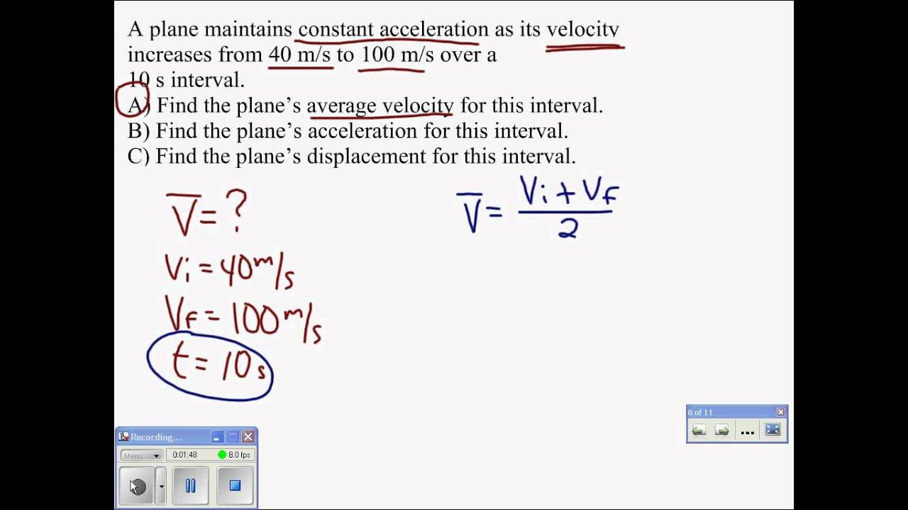 06 Average Velocity Problem YouTube