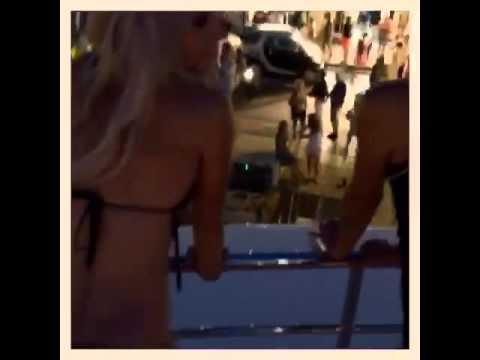 Yacht dancing St Tropez!