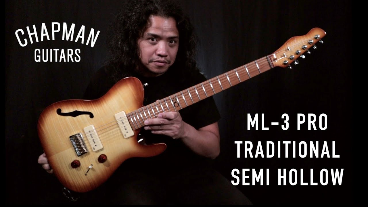 chapman guitars ml3 pro traditional semi hollow clean and crunch tones demo youtube. Black Bedroom Furniture Sets. Home Design Ideas