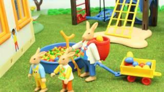 Osterhasen in der Kita Playmobil Film seratus1 stop motion Ostern