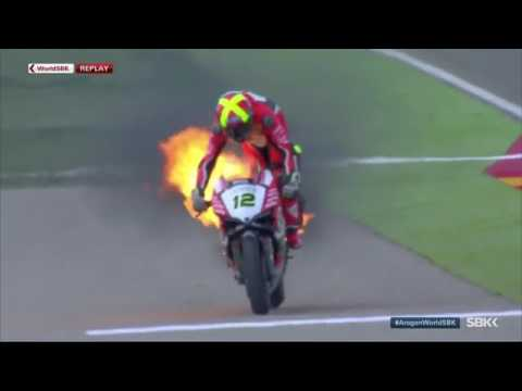 Javier fores Ducati fire engine blowup