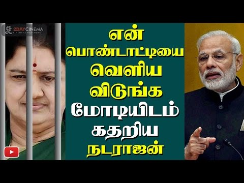 Will modi listen to Natarajan's request? Will Sasikala walk out from jail? - 2DAYCINEMA.COM