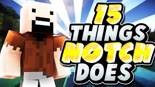 15 Things Notch Does In Minecraft