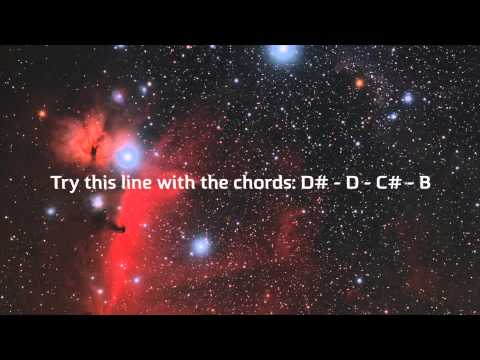 Deep Space French Electro Funk Backing Track with Jam Notes [B Dorian]