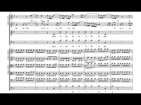 9.- De torrente in via bibet (Dixit Dominus - G. F. Händel) Score Animation
