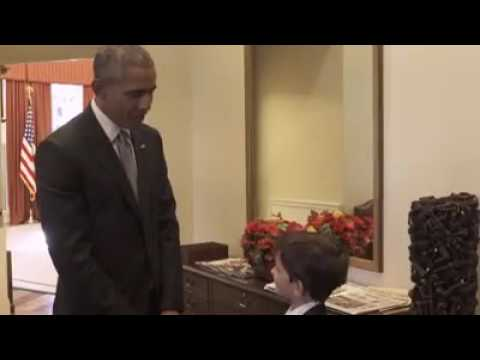 Obama meets 6 year old boy who offered syrian boy omran daqneesh his home