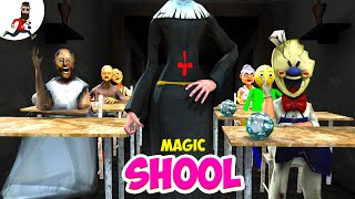Magic School ★ Funny Animation Granny, Ice Scream, Evil Nun, Baldi vs Aliashraf