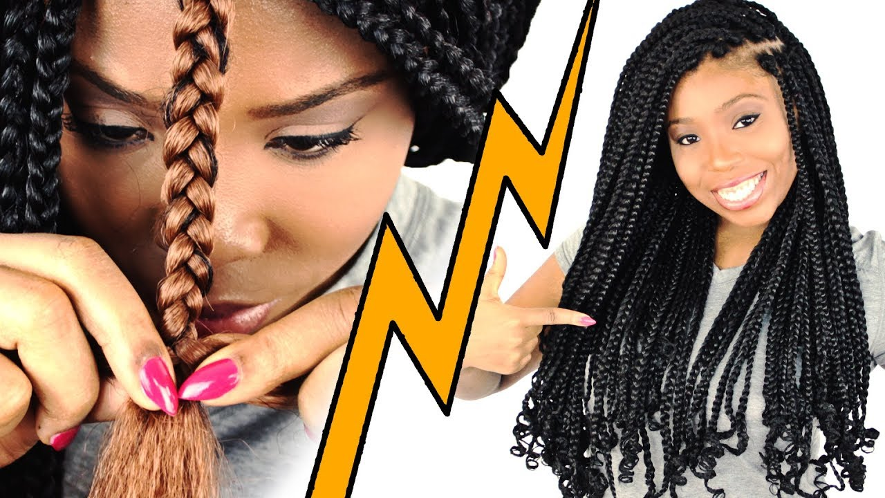 How To Box Braids For Beginners Step By Step Youtube