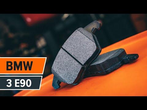 How to replace front brake discs and front brake pads on BMW 3 E90 TUTORIAL | AUTODOC
