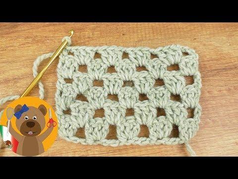 Tejido estilo Granny por filas   Patrón fácil y rápido para chales y cobertores   verano