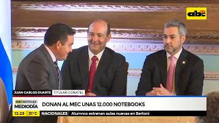 Donan al MEC una 12.000 notebooks