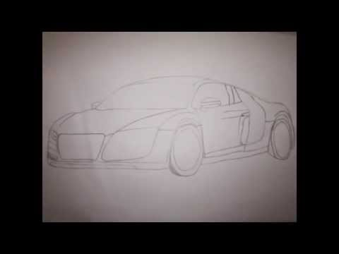 How to Draw Audi R8 -step-by-step