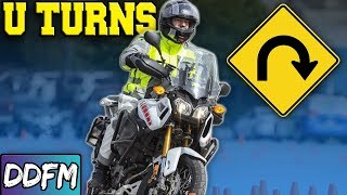 Make TIGHT U-Turns On A Motorcycle / CBT Module 1 Motorcycle Test Techniques