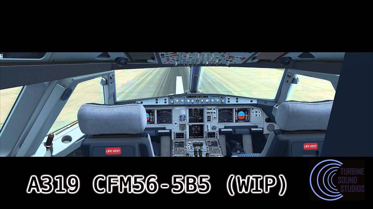 A319 CFM56-B5 Aerosoft / Turbine Sound Studios expansion