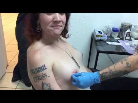 Pornstar ELLE HOWARD gets her NIPPLE PIERCED! (NSFW) from YouTube · Duration:  54 seconds