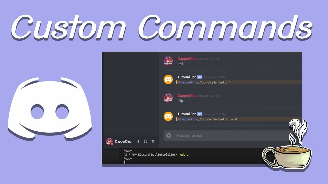 Coding Your Own Discord Bot - Discord js - Creating Custom Commands