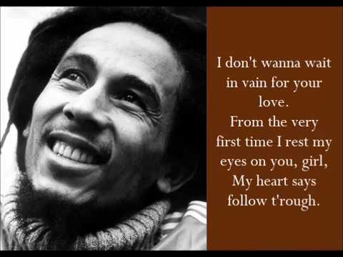 Waiting In Vain - Bob Marley - (Lyrics)