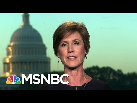 Sally Yates, Former DOJ Official, Expresses Faith In US Institutions | Morning Joe | MSNBC