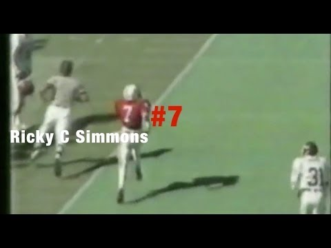 "1983 Nebraska Cornhuskers football ""The Scoring Explosion"" Ricky C  Simmons #7"