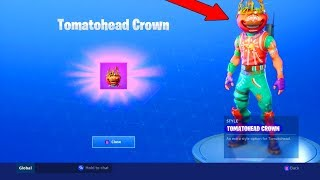 *NEW* TOMATOHEAD CROWN UNLOCKED! | Customized Tomatohead Skin Gameplay! | Fortnite Battle Royale!